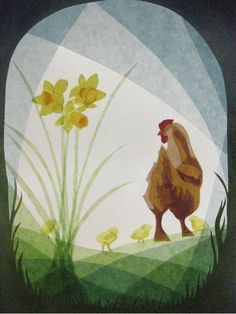 Hen and chicks transparency Paper Art, Paper Crafts, Waldorf Crafts, Nature Table, Shadow Puppets, Hens And Chicks, Window Art, Painted Paper, Spring Crafts