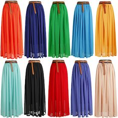 $11 Maxi Skirts, that's the mass produced price. I wonder how much it would cost to make one myself?