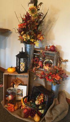 - Fall decor ideas for the porch - Thanksgiving Decorations, Halloween Decorations, Fall Decorations, Boutique Halloween, Autumn Decorating, Autumn Crafts, Fall Projects, Fall Home Decor, Fall Halloween