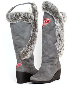 Cuce Shoes Detroit Red Wings Women's Supporter Boots
