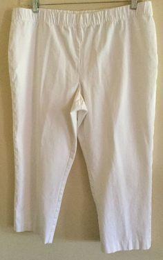 Susan Graver QVC Stylish Stretch Comfort Slim Leg Capris White 16 OVC  | eBay