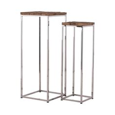 Richmond Interiors Accessoires • Sohome Reclaimed Wood Side Table, Wooden Side Table, Hallway Furniture, Living Room Furniture, Reclaimed Railway Sleepers, Tall Side Table, Side Tables, Richmond Interiors, Kensington