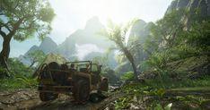 Uncharted 4 : Sunken Ruins by gabearts Art Portfolio, Dog Art, Video Games, Digital Art, Environment, Fantasy, Lighting, Learning, Dogs