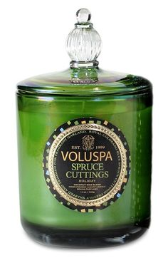 Smells like a Christmas tree! Voluspa Spruce Cuttings candle