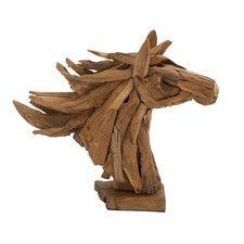 Simply Gorgeous Wood Teak Head Horse