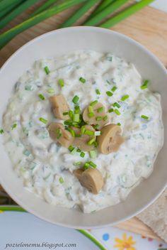 Pozielonemu... Wegetariański blog kulinarny : Domowy sos tatarski do jajek i... nie tylko Hummus, Grilling, Cooking, Ethnic Recipes, Easter, Diet, Health, Kitchen, Crickets