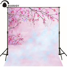 >> Click to Buy << Allenjoy Photographic background Hazy pink flower branches newborn photography lovely princess baby shower  interesting #Affiliate