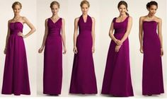Sangria bridesmaid dresses---I like this colour too