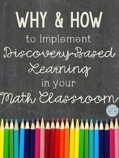 To tap into my middle school math students? prior knowledge I love to begin a new topic with a discovery-based or inquiry-based activity. My discovery-based worksheets have been specially designed to engage students in learning that moves beyond tra Problem Based Learning, Inquiry Based Learning, Project Based Learning, Math Teacher, Math Classroom, Math Math, Maths, Teaching Tips, Teaching Math