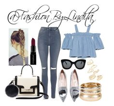 Untitled #515 by leidylindita on Polyvore featuring polyvore fashion style SJYP Topshop Kate Spade CÉLINE Smashbox clothing