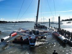 Sodebo de retour ! Fin du tour pour Thomas Coville, son maxi trimaran est rentré à la Trinité, son port d'attache. by E Allaire  #Sail #SodeboTDM #Record #Boat #Trinite | www.scanvoile.com