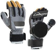 Loaded Longboard Freeride Slide Gloves Version 7.0 With Pucks Size Large, Black