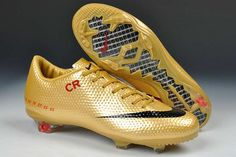 Nike Mercurial Vapor IX CR7 SE FG Limited Edition Boots - Gold Red Black  New Soccer e8e4aab3b08