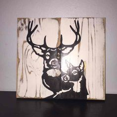 Buck & Doe Couple Silhouette Wood Sign - Mercari: Anyone can buy & sell