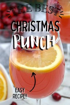 This Easy Christmas Punch is a delicious choice for your holiday celebration. Quick to make, packed with flavor, and sure to please! #easypunch #christmaspunch Christmas Punch, Christmas Treats, Simple Christmas, Christmas Foods, Christmas Cakes, Best Christmas Recipes, Holiday Recipes, Punch Recipes, Party Recipes