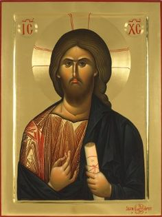 High quality hand-painted Orthodox icon of Jesus Christ Pantocrator (raised border). BlessedMart offers Religious icons in old Byzantine, Greek, Russian and Catholic style. Anima Christi, Christ Pantocrator, Images Of Christ, Paint Icon, Holy Quotes, Byzantine Art, Religious Icons, Holy Family, Orthodox Icons