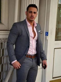 this minus the jacket for your guys family Gray Pink Suits