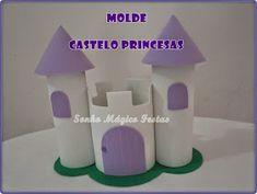 Eu Amo Artesanato: Castelo com molde Frozen Birthday Party, Ideas Para Fiestas, Crafts For Kids, Cards, Diy, Olaf, Crafting, Ballet, Sewing