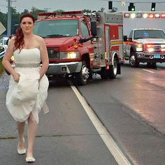 Hot: Paramedic Bride Who Rushed to Scene of Family Car Crash in Wedding Dress: 'I Didn't Think Twice'