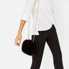 FAUX FUR MINAUDIERE - NEW IN-WOMAN | ZARA United States