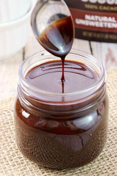 Why buy the bottled stuff when it's quick and easy to make your own Homemade Chocolate Sauce at home? Great way to make chocolate milk or serve it on ice cream or other desserts!