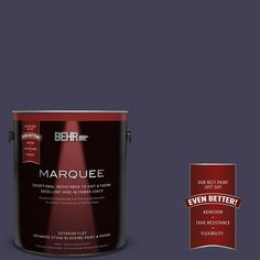 BEHR MARQUEE 1-gal. #MQ5-39 Artistic License Flat Exterior Paint