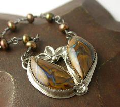 Koroit Boulder Opal Sterling Silver Necklace
