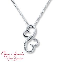 Open Hearts Family by Jane Seymour™  DIAMOND NECKLACE 1/20 CT TW ROUND-CUT STERLING SILVER  Stock number: 211042104  $115.00