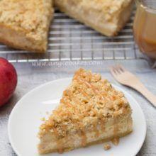Jablkový cheesecake s mrveničkou a karamelom