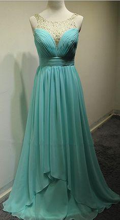 Long Chiffon Evening Dress, Prom Dress