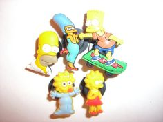 5 The Simpsons Cartoon Button Shoe Charms for by ElementsOfArt