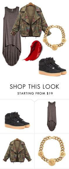 """""""Friday Night Lights"""" by kearah-scott ❤ liked on Polyvore featuring NIKE, H&M and Versace"""