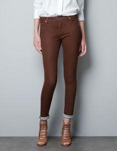 PANTALÓN 5B WAX COATED - Pantalones - Mujer - ZARA Estados Unidos de América