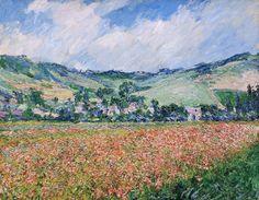 Champs de coquelicots (C Monet - W 999),1885.