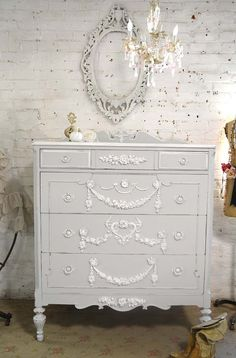 Painted Cottage Chic Shabby French Dresser/ by paintedcottages