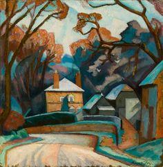 Winter Landscape 1912-14 Roger Fry post-impressionism