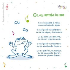 *Letras de Canciones infantiles. - EduInf35 Spanish Lessons For Kids, Spanish Activities, Teaching Spanish, Spanish Class, Baby Songs, Kids Songs, Spanish Songs, Spanish Quotes, Music And Movement