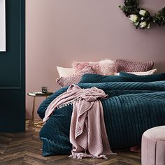 Rebecca Judd Loves Jardin Quilted Velvet Quilt Cover Teal - Home Republic