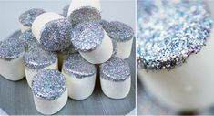 Glittered Marshmallows!  Not really a recipe, but I sure like edible glitter and marshmallows!