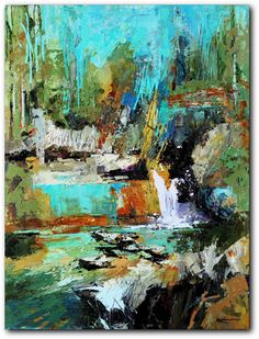 Abstract landscape painting by Colorado artist Conn Ryder. Landscape Artwork, Abstract Landscape Painting, Abstract Art, Abstract Paintings, Contemporary Paintings, Action Painting, Painting Inspiration, Art Images, Art Projects
