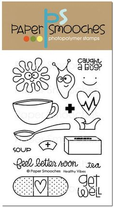 Paper Smooches Clear Acrylic Stamps - Healthy Vibes ~ $14.99 at scrapbook.com