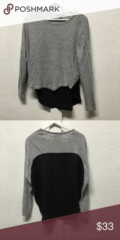 back detail top Soft cozy base with silky back detail defekt Tops Tees - Long Sleeve
