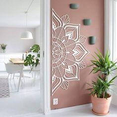 Creative Wall Decor, Unique Wall Decor, Metal Wall Decor, Diy Wall Art, Creative Walls, Wall Art Decor, 3 Piece Wall Art, Yoga Room Decor, Modern Metal Wall Art