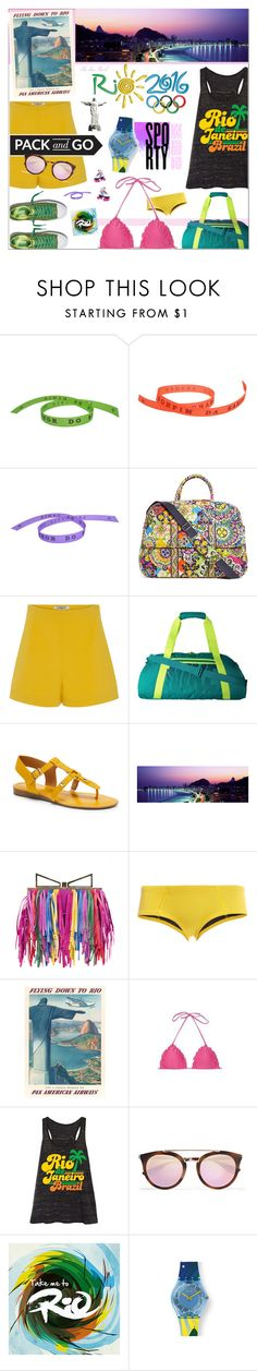 """Rio Vibes #Sporty"" by theseapearl ❤ liked on Polyvore featuring Vera Bradley, Cacharel, NIKE, Givenchy, Franco Sarto, Sara Battaglia, Cynthia Rowley, Festuvius, Prada and outfit"