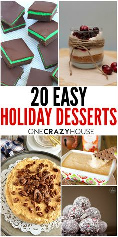 One of the things people look forward to around the holidays is the food. While you probably have your favorite family traditional food, you may also like the idea of trying something new. Here are some easy Christmas inspired, holiday desserts that you and your whole family are sure to love.