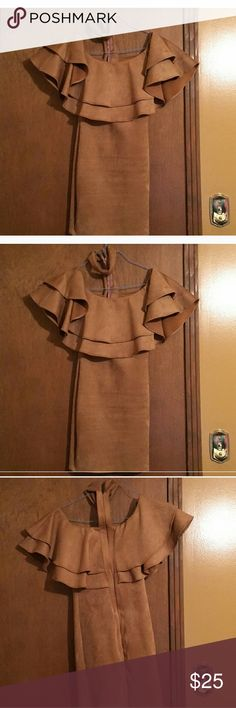 Tan Choker Dress Beautiful Tan Chocker Dress....Excellent Condition....Only Worn Once....No Tears or Nips or Stains Fashion Nova Dresses Strapless
