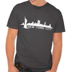 Stylish and fun you'll love our NEW YORK CITY silhouette SKYLINE tee. It also makes a great gift or souvenir so show some city love and grab yours today www.citystyletees.com.