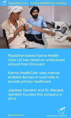 In June 2015, Karma HealthCare Ltd has raised an undisclosed amount from Ennovent.