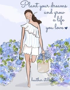Hydrangeas. Wall Art for Women Encouragement Plant by RoseHillDesignStudio