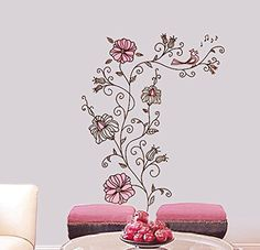 Shop for on Etsy, the place to express your creativity through the buying and selling of handmade and vintage goods. Kids Room Wall Decals, Diy Wall Stickers, Nursery Decor, Wall Decor, Flower Nursery, Vine Wall, Flower Wall Stickers, Flowering Vines, Handmade Gifts